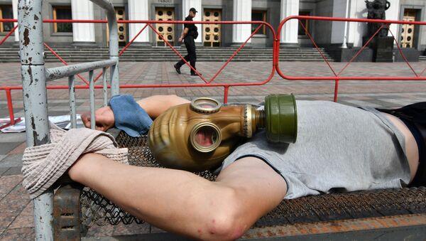 Protesty na Ukrainie - Sputnik Polska