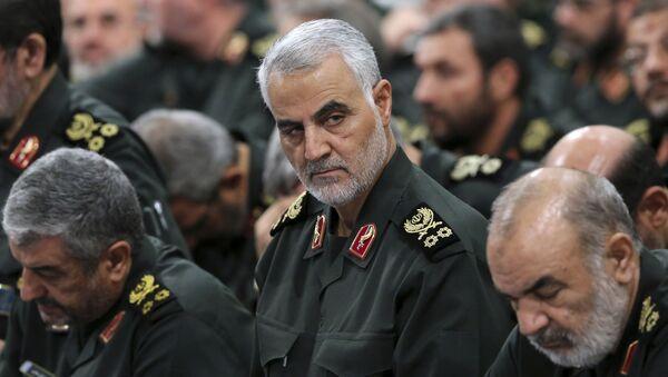 Dowódca elitarnej jednostki specjalnej w strukturze irańskiego Korpusu Strażników Rewolucji Islamskiej generał major Kasem Sulejmani - Sputnik Polska