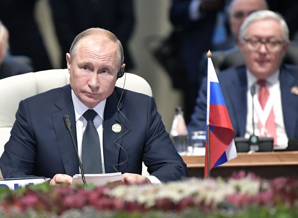 Władimir Putin na szczycie BRICS