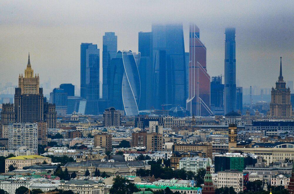Drapacze chmur Moscow City