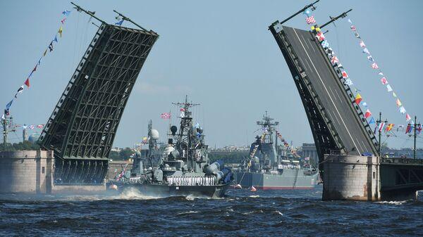 Główna Parada Marynarki Wojennej Rosji - Sputnik Polska