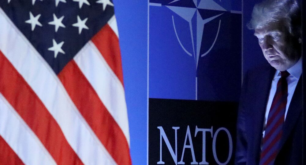 Prezydent USA Donald Trump na konferencji prasowej po szczycie NATO w Brukseli