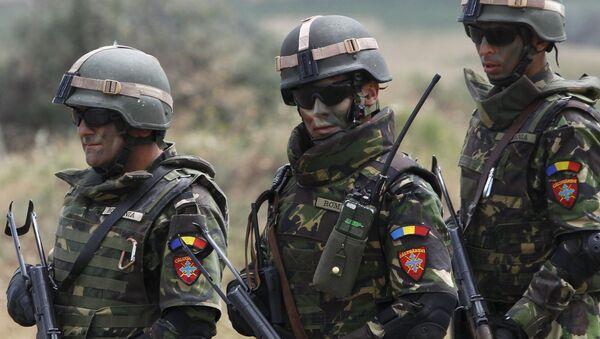 Rumuńscy żołnierze podczas ćwiczeń wojskowych NATO Agile Spirit w Tbilisi - Sputnik Polska