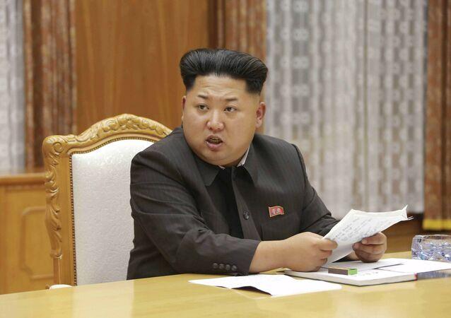 Przywódca Korei Północnej Kim Dzong Un на pilnej naradzie centralnej Komisji Wojskowej Partii Pracy Korei