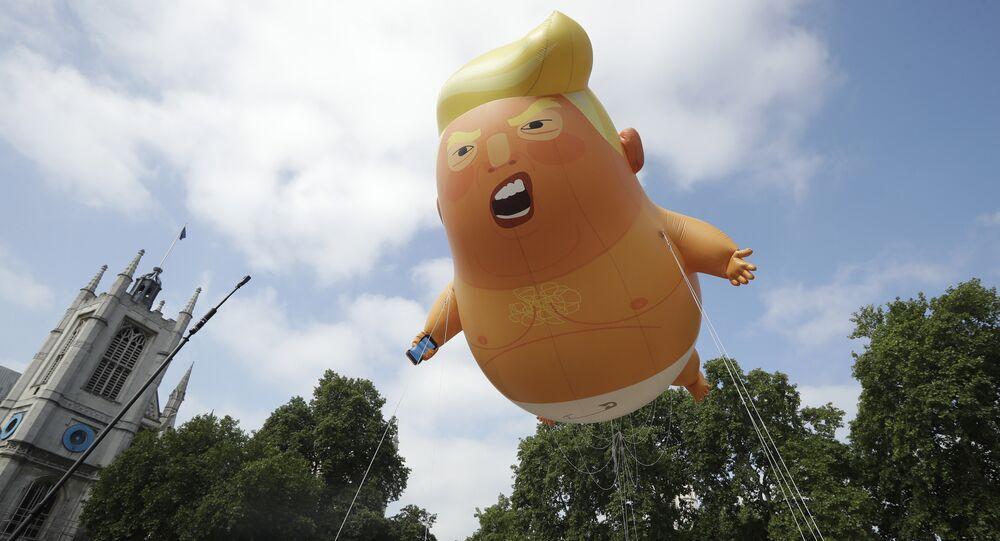 Protesty przeciwko wizycie Trumpa w Londynie