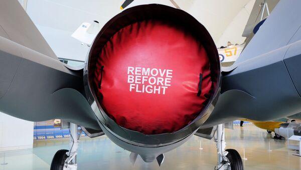 Zamknięty silnik amerykańskiego myśliwca F-35 - Sputnik Polska