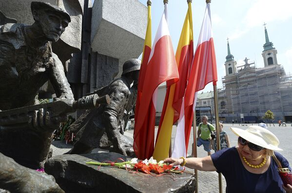 Obchody 74. rocznicy Powstania Warszawskiego w Polsce - Sputnik Polska