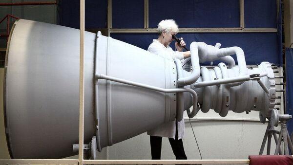 Silnik rakietowy w NPO Energomasz. Zdjęcie archiwalne - Sputnik Polska