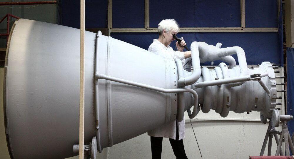 Silnik rakietowy w NPO Energomasz. Zdjęcie archiwalne