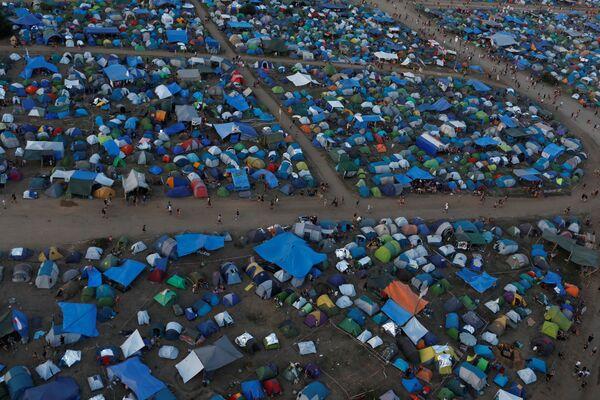 24. festiwal Pol'and'Rock (były Przystanek Woodstock), widok z góry - Sputnik Polska