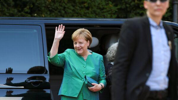 Kanclerz Niemiec Angela Merkel na otwarciu Festiwalu w niemieckim mieście Bayreuth - Sputnik Polska
