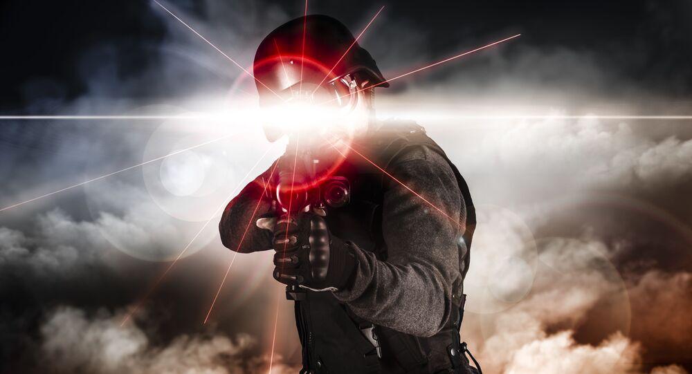 Laserowy karabin AK-47