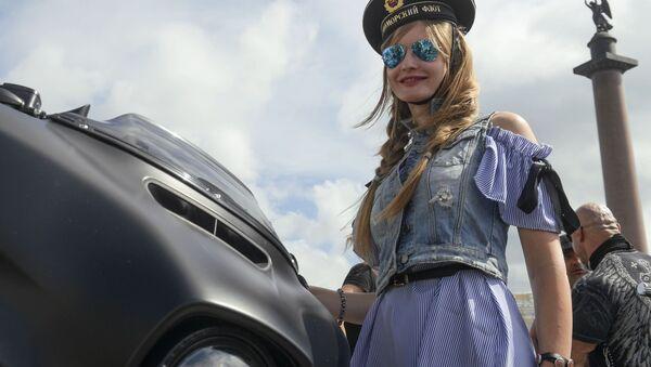 Uczestniczka festiwalu St.Petersburg Harley Days - Sputnik Polska