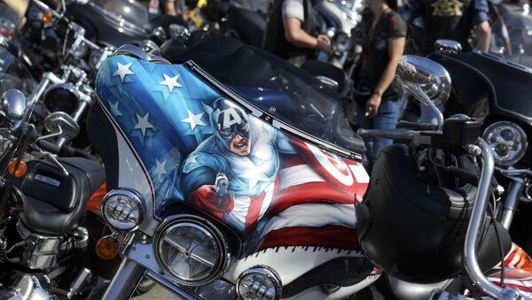 Motocykle uczestników festiwalu St.Petersburg Harley Days   - Sputnik Polska