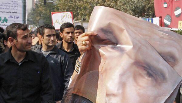 Antyamerykaskie protesty w Teheranie - Sputnik Polska
