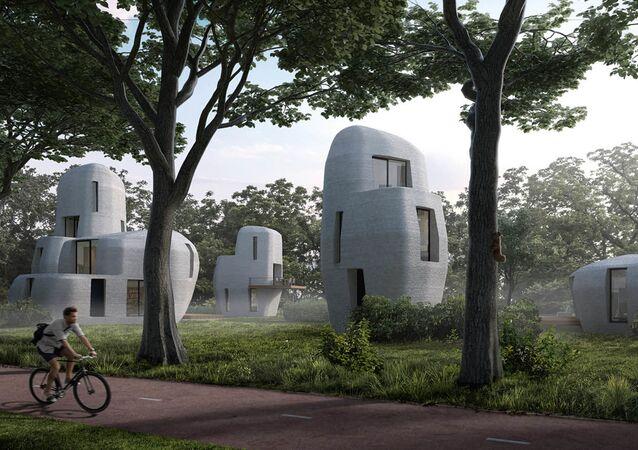 Projekt dzielnicy domów 3D w Holandii