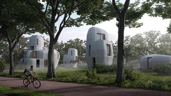 Projekt dzielnicy domów 3D w Holandii - Sputnik Polska