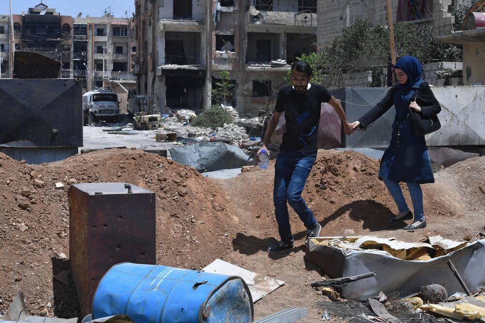Al-Jarmuk - terytorium byłego obozu dla uchodźców, Syria