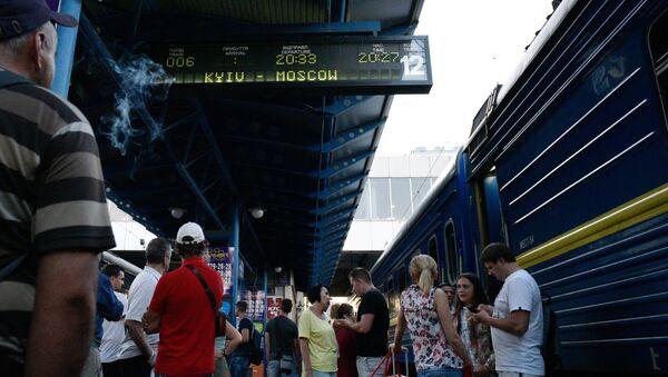Pociąg z Kijowa do Moskwy - Sputnik Polska