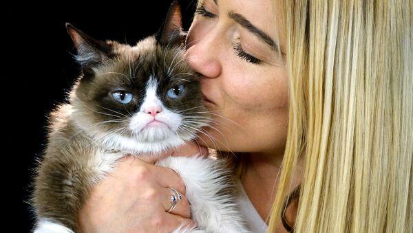 Grumpy Cat ze swoją panią - Sputnik Polska