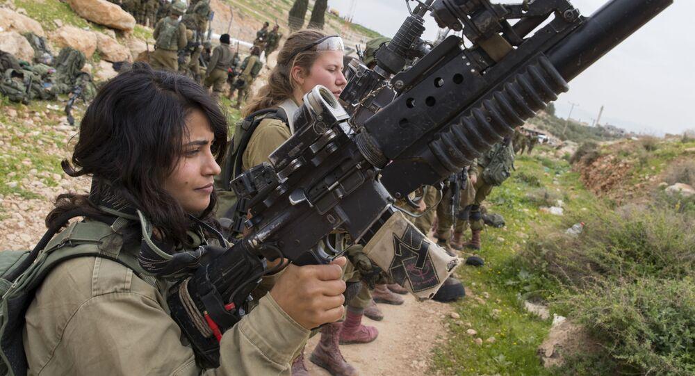 Kobiety z izraelskiego wojska na szkoleniu.