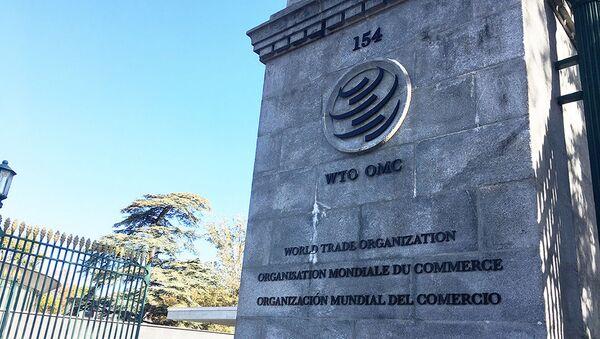 Wjazd na terytorium siedziby WTO - Sputnik Polska