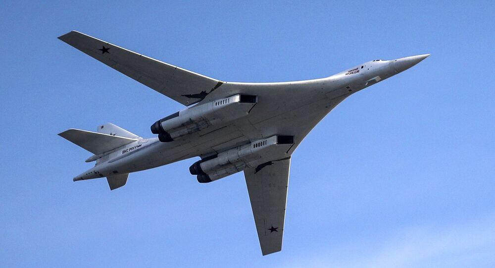 """Samolot Tu-160. Pokaz lotniczy """"Wybieram niebo"""" w Kazaniu"""