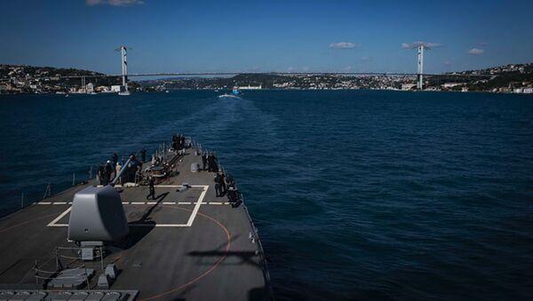Niszczyciel Carney w akwenie Morza Czarnego - Sputnik Polska