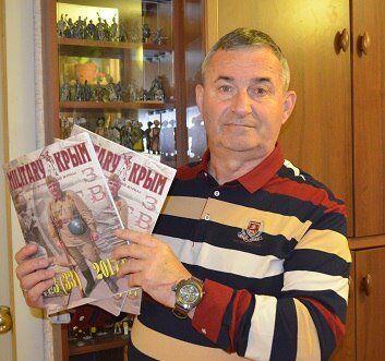 """Historyk wojskowy, redaktor naczelny magazynu wojskowo-historycznego """"Military Krym"""", podpułkownik Siergiej Czennyk"""