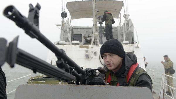 Ukraińska slużba graniczna na Morzu Azowskim - Sputnik Polska