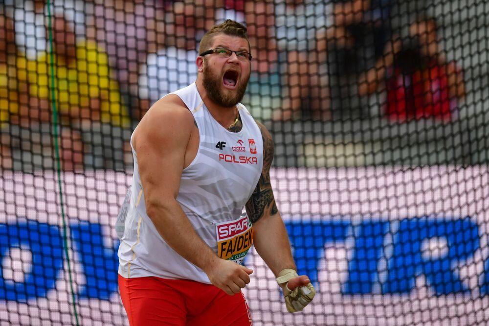 Paweł Fajdek (KS Agros Zamość) zdobył srebrny medal w rzucie młotem