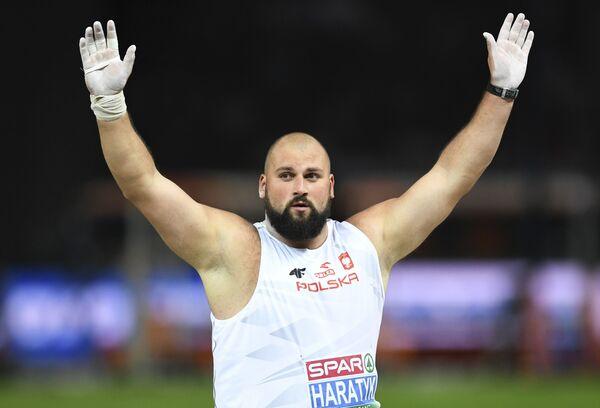 Michał Haratyk (KS Sprint Bielsko-Biała) zdobył złoty medal w pchnięciu kulą - Sputnik Polska