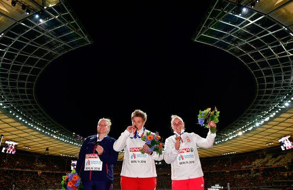 Anita Włodarczyk (RKS Skra Warszawa) zdobyła złoty medal w rzucie młotem - Sputnik Polska