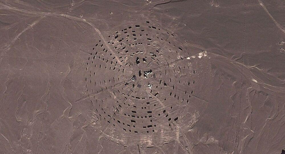 Obiekt przypominający bazę wojskową znaleziony w chińskiej części pustyni Gobi