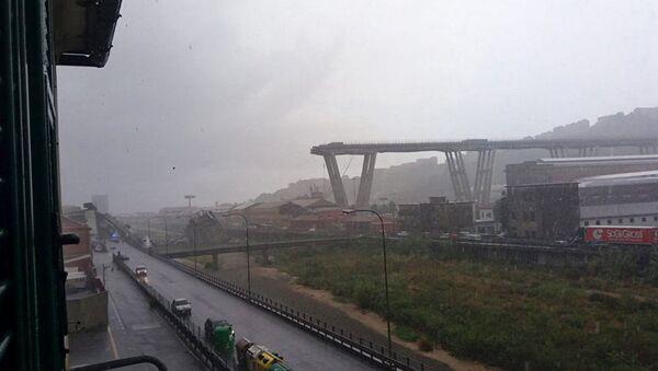 Zawalony most w Genui - Sputnik Polska