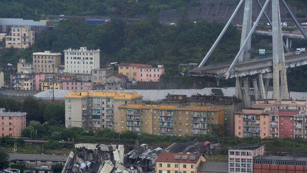 Zawalony most w Genui, 14 sierpnia 2018 - Sputnik Polska