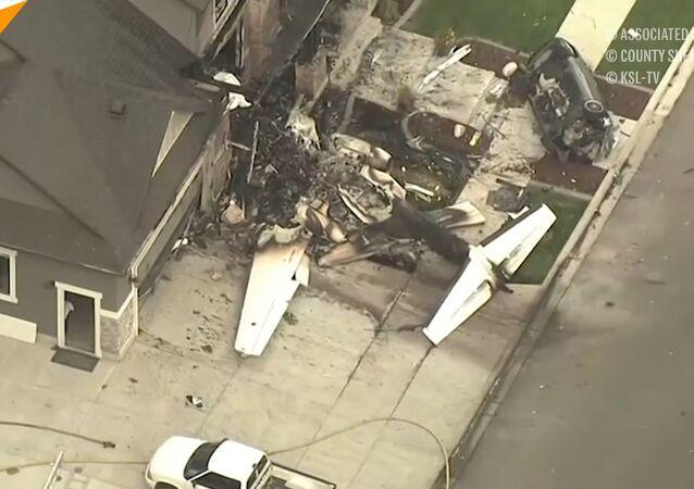 Pilot skierował samolot do własnego domu