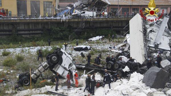 Zawalenie wiaduktu w Genui - Sputnik Polska