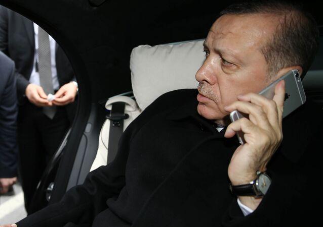 Prezydent Turcji Recep Tayyip Erdogan w Stambule