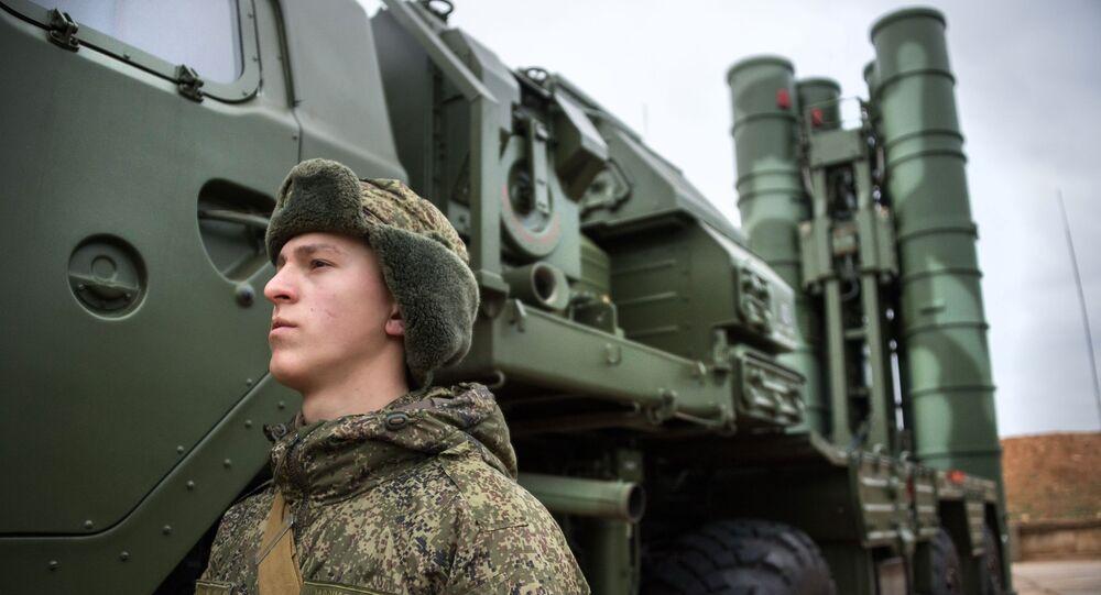System obrony rakietowej S-400 Triumf. Zdjęcie archiwalne
