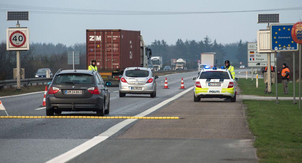 Niemiecko-duńska granica koło Flensburga