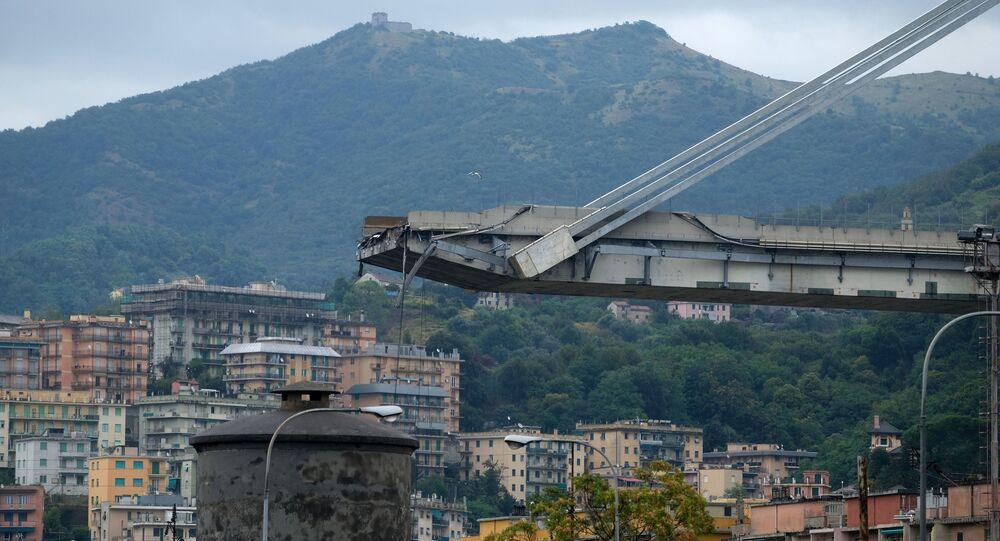 Zawalony most w Genui, Włochy