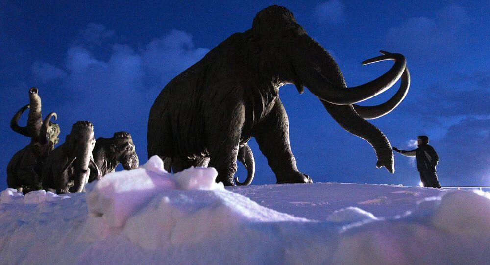 Rzeźba Mamuty pod Chanty-Mansyjskiem