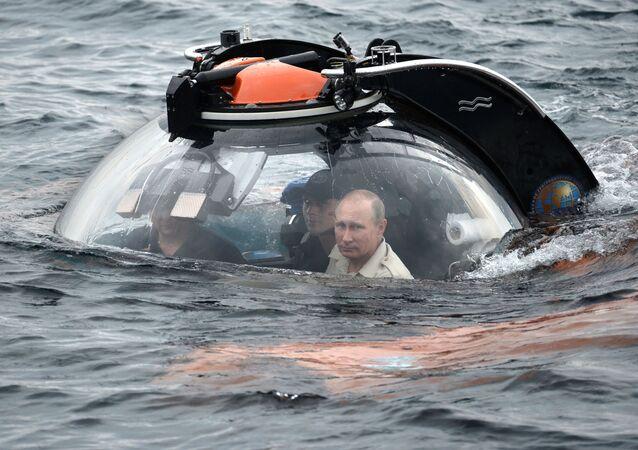 Zanurzenie się Władimira Putina w Morzu Czarnym