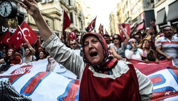 Akcja protestacyjna przeciwko Partii Pracujących Kurdystanu - Sputnik Polska