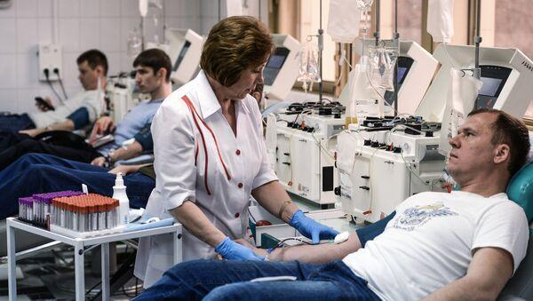 Akcja poboru krwi - Sputnik Polska