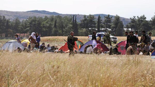Specjalny oddział macedońskiej policji pilnuje granicy z Grecją przed nielegalnymi imigrantami - Sputnik Polska