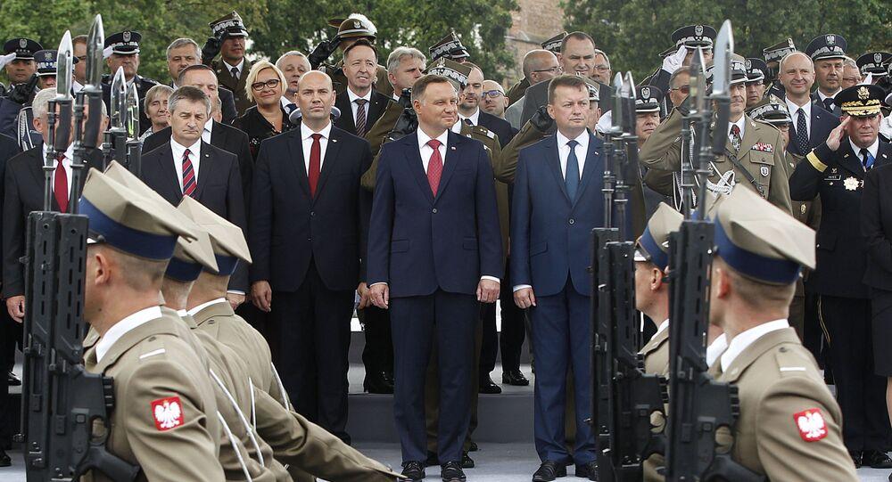 Prezydent Rzeczypospolitej Polskiej Andrzej Duda na Defiladzie Niepodległości 2018 w Warszawie