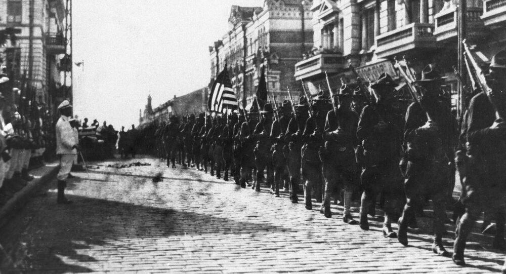 Amerykańskie wojska okupacyjne we Władywostoku wiosną 1918 roku