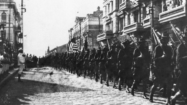 Amerykańskie wojska okupacyjne we Władywostoku wiosną 1918 roku - Sputnik Polska
